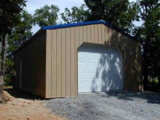 Pole barn package 36x24 center isle horse barn engineered for House material packages