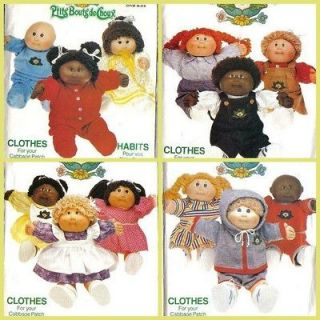 Vintage Cabbage Patch Kids 16 Doll Clothes Butterick Sewing Pattern