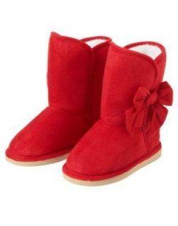 NWT Gymboree COZY CUTIE Red Bows Faux Suede Boots BG KG 03 04 6 9 11
