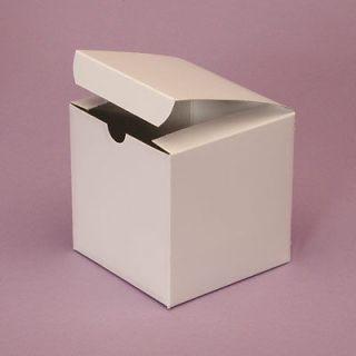 150   4x4x2 White Favor Cake Boxes   Wedding, Party, Gift Box