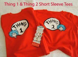 Dr. Seuss Thing 1 Thing 2 NEW 24M  Large toddler Shirt Set ~ TWINS