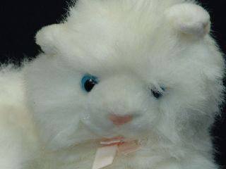 FAO SCHWARZ BLUE EYED WHITE HIMALAYAN PERSIAN KITTY CAT PLUSH KITTEN