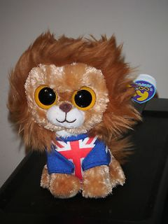 Ty HERO the 6 Union Jack Lion 2012 UK Exclusive ~ Beanie Baby Boos
