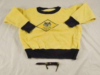 Cub Scout BSA Sweatshirt & Boy Scout Pocket Knife Camillus S3O8