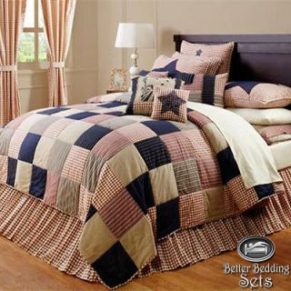 Patriotic Freedom Flag Twin Queen Cal King Quilt Bed Bag Bedding Set
