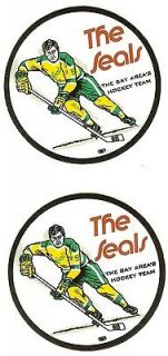 LOT OF( 2 ) CALIFORNIA GOLDEN SEALS STICKERS OR DECAL  UN USED
