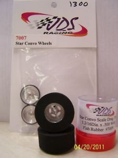 JDS Star Convo Drag Racing Tire Set 1 3/16 x.500 WOW