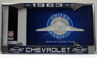LICENSE TAG FRAME FOR 1963 CHEVY CHEVROLET CAR TRUCK IMPALA METAL GM