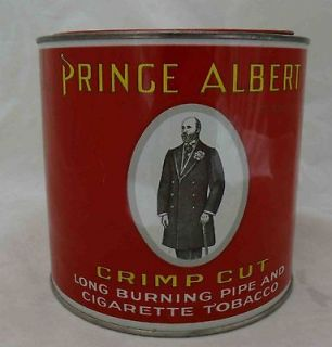 Vintage Prince Albert Round Tobacco Can w/Opener Tab 1 of 2