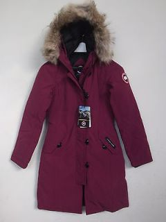 CANADA GOOSE WOMENS KENSINGTON PARKA FULL ZIP SZ US MEDIUM BERRY WARM