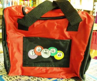 BINGO TOTE BAG SALE $9.99  BINGO CALLS   RED COLOR
