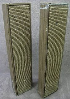 Pair Vintage Lafayette Column Speakers Model 99 46146WX 16 Ohm