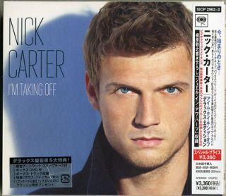 NICK CARTER IM TAKING OFF JAPAN LTD ED CD DVD 0202 BONUS TRACK H40