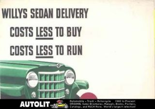 1950 Willys Jeep Sedan Delivery Truck Sales Brochure