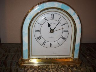 Elegant Linden Mantle Desk Shelf Clock Quartz