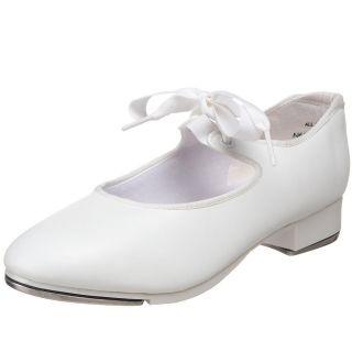 Capezio 625 Tyette tie tap dance shoes white girls adult new