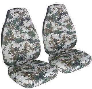 FORD RANGER 60/40 HIGH BACK CAR SEAT COVERS digital camo gray/brown