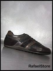 LA MARTINA Mens Sneakers L3076207 Olimpia Caffè Camoscio T.Moro