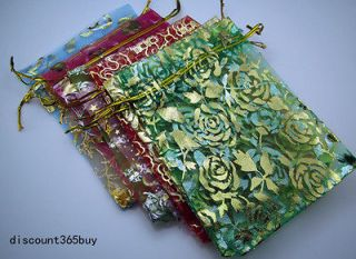 Organza Jewellery Xmas Holidays Party Supply Cards Gift Wrap Bags #W68