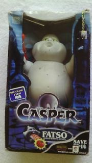 Tyco 1994 Casper the Ghost   Fatso Figure (Night Glow Eyes/Tomato