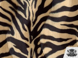 VELBOA FABRIC BROWN BLACK ZEBRA FAUX FUR $6.50 YARD