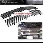 91 94 Chevy Pickup Truck Blazer S10 3 Bar Gloss Black Grill Mesh Style