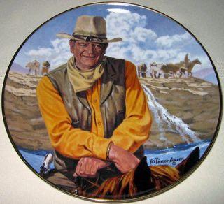 Franklin Mint American Legend JOHN WAYNE, RUGGED HORSEMAN Cowboy Plate
