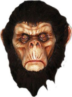 HALLOWEEN ADULT GORILLA MONKEY APE MASK PROP BAD CHIMP