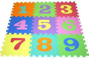 60 KIDS LEARNING NUMBERS PLAY MAT INTERLOCKING TILES PLAYMAT USE WITH