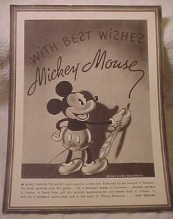 1930S MICKEY MOUSE PRINT PREMIUM FROM CONGOLEUM RUGS
