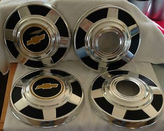CHEVROLET TRUCK HUB CAPS CHEVY 4x4 3/4 Ton hubcaps Chrome Black Yellow