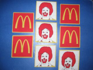 McDonalds Ronald McDonald Fabric Iron On Appliques (#2)