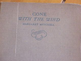 WITH THE WIND MARGARET MITCHELL 1936 BOOK MACMILLAN CO. GREAT CLASSIC