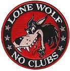 LONE WOLF MOTTO LARGE PATCH BIKER JACKET VEST ROCKER