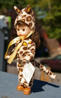 Halloween Leopard Costume McDonalds Doll Blinking Eyes Madame