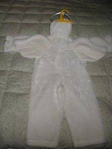 Dress Up Chrisha White Plush Angel Costume Costumes Sz. M Ages 4 6 New