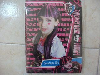 Child MONSTER HIGH DRACULAURA WIG  BRAND NEW IN PACK