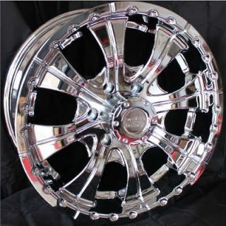 18 Inch 18x8.5 CHROME RIMS 6 Lug Wheels Chevy Tahoe GMC Toyota Tacoma