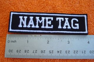 custom embroidered name tag, biker patch 5