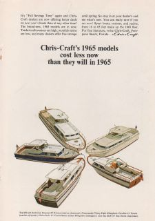 Chris Craft Models for1965 Boat Ad