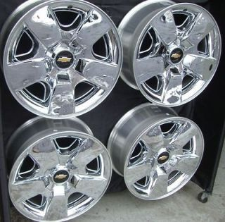 20 INCH AVALANCHE SILVERADO TAHOE NEW FACTORY CHROME WHEELS RIMS 5417
