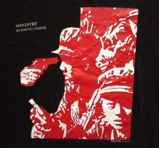 Vtg 1991 MINISTRY Shirt Industrial Rock Metal NIN LARD