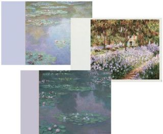 CASPARI Claude Monet Assorted Blank Note Cards in Wallet   8