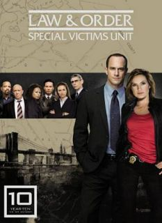 Law Order Special Victims Unit   The Tenth Year DVD, 2009, 5 Disc Set
