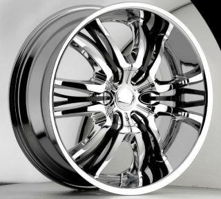 22 inch Cattivo 767 chrome black wheels rims 5x115 +15
