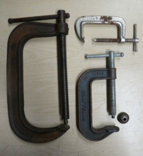 CRAFTSMAN 4 #66674 ADJUSTABLE 8 #1480 8 AND 1 3 C CLAMPS