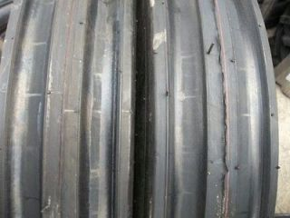 TWO 550X16,550 16,​5.50X16 DEERE FORD Six Ply 3 Rib Tractor Tires w