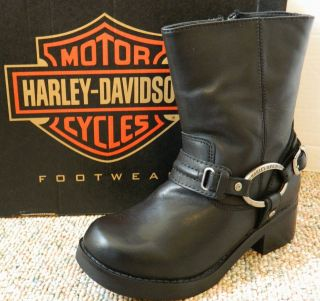 Harley Davidson Christa D85298 Black womens boots New in Box