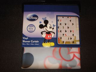 Mickey Mouse Head Shower Curtain Hook Set Disney Black Bathroom