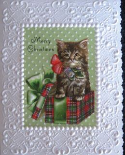 15 BOXED CARDS CAROL WILSON MERRY CHRISTMAS HOLIDAY GREETING KITTEN